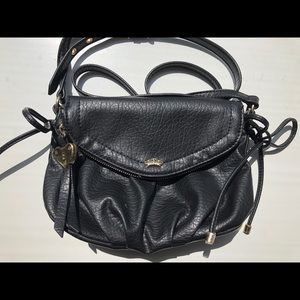 Black faux leather Juicy Couture crossbody